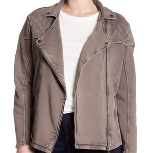Melrose Market Distressed Asymmetrical Zip Coat